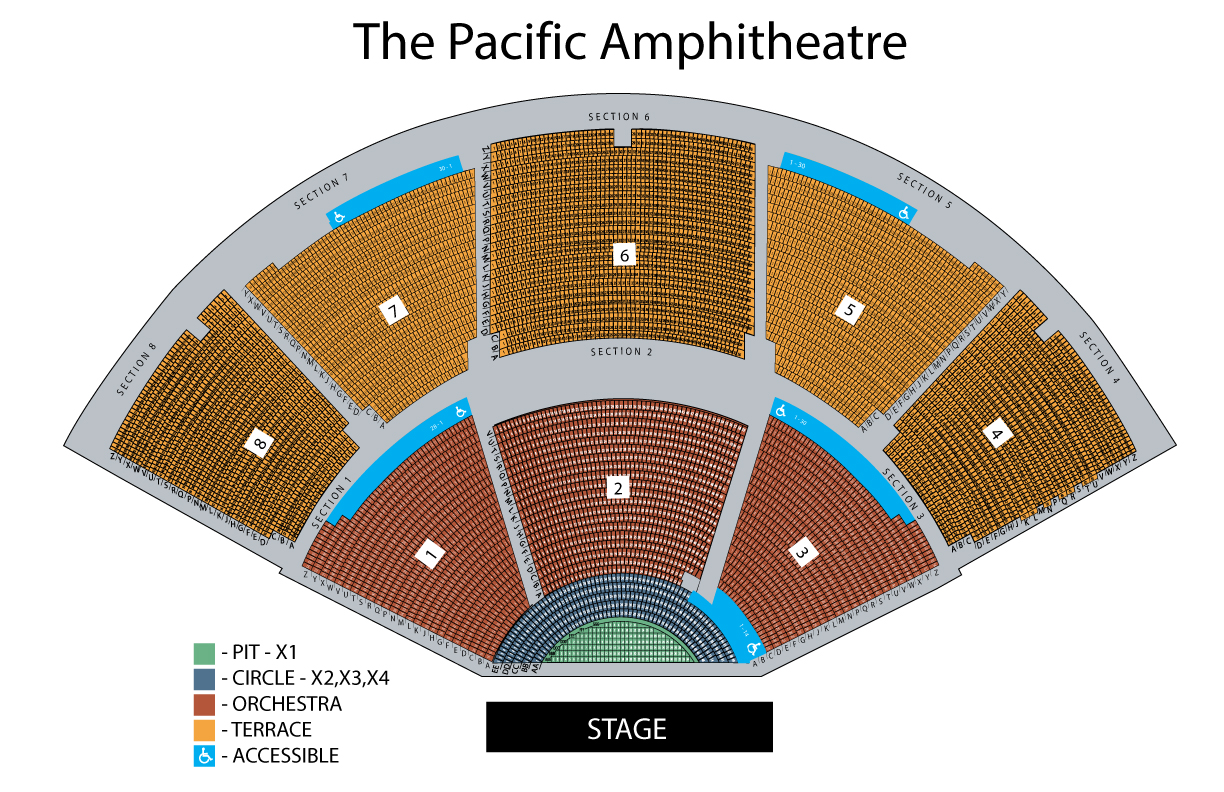 Seating Chart Pacific Amphitheatre Summer Concert Series