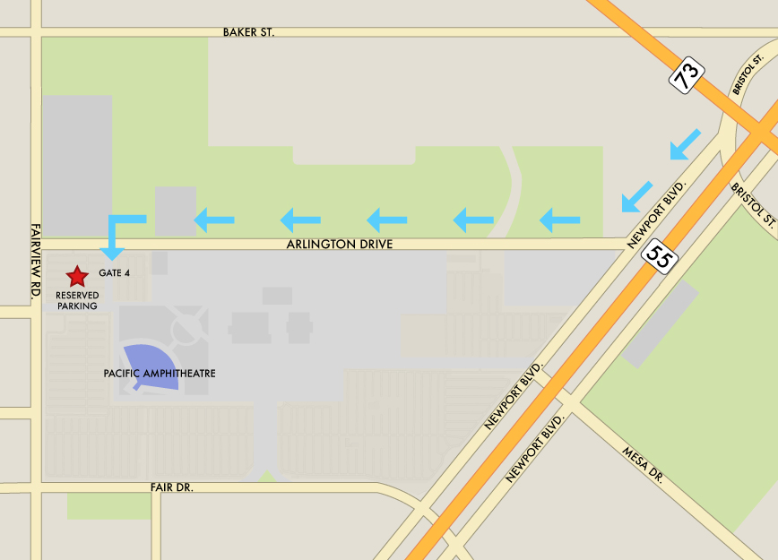 Oc Fair Maps 2020.Parking Directions Pacific Amphitheatre Summer Concert