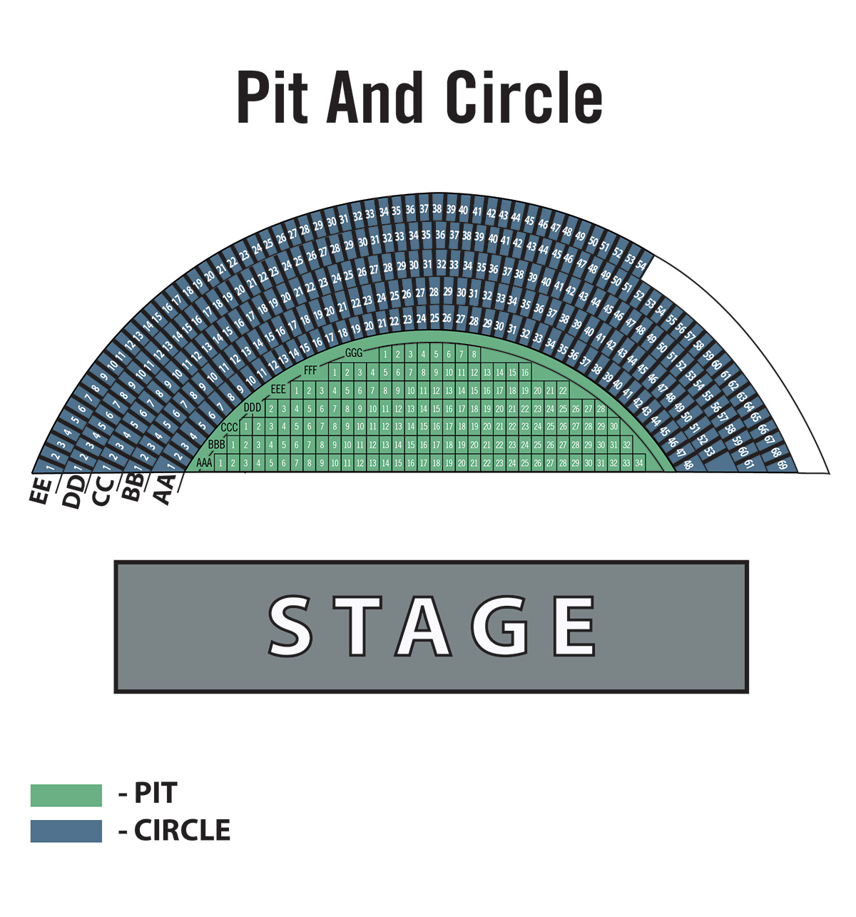 Seating Chart Pacific Amphitheatre